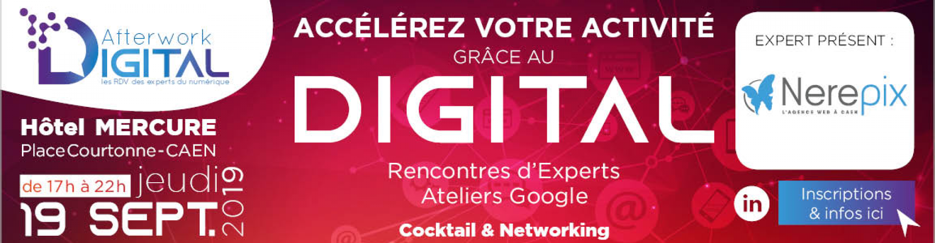 Participez à l'Afterwork Digital #1 à Caen